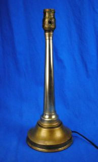 Vintage Brass Fire Hose Nozzle Table Lamp Light Fireman Firefighter