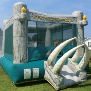 COMMERCIAL INFLATABLE BOUNCE HOUSE BLOWER JURASSIC ADVENTURE 15X15 NO