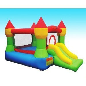 Bounceland Castle With Hoop Inflatable Bounce House Bouncer, WHY Rent