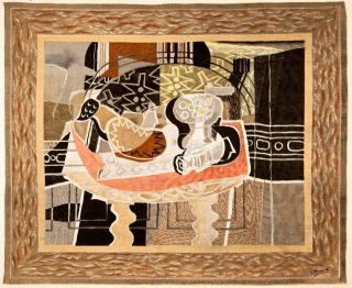 1947 Color Photolithograph Georges Braque Abstract Modern Art French