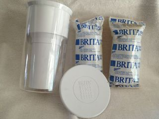 Brita Water Filter * Travel Tumbler + two Brita Pitcher Filters