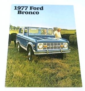 1977 77 Ford Bronco Truck SUV Brochure Sport Ranger 4WD