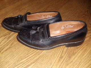 Allen Edmonds Bridgeton Mens Black Leather Tassel Loafers Sz 9 D