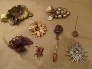 ANTIQUE VINTAGE PINS BROOCHES RARE VERY NEAT LOT