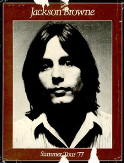 original concert program from the jackson browne summer tour