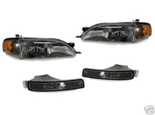 1995 1996 Toyota Camry Black Headlights Corners Bumpers