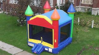 Commercial Inflatable Bounce House Rainbow Moonwalk Jumping Castle
