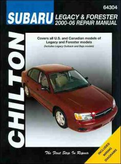 Subaru Legacy Outback Baja Forester Repair Shop Service Manual