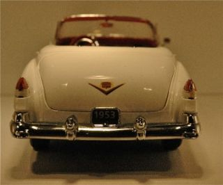 Franklin Mint 1953 Cadillac Eldorado Convertible   Alpine White