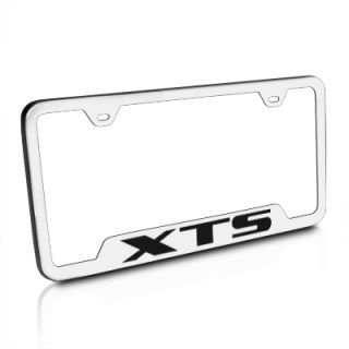 Cadillac XTS Brushed Stainless Steel Auto License Plate Frame New Free