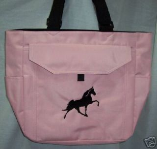Tennessee Walker Walking Horse Pink Tote Bag TWH New M