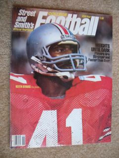 1985 Street Smith College Football Keith Byars Cover