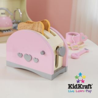 New Kids Wooden Toy Toaster and Coffee Maker Play Set