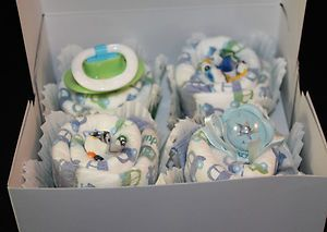 Baby Boy Diaper Cupcakes Christening Diaper Cake baby shower