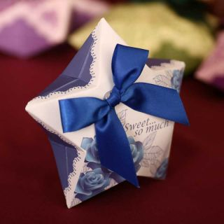 Blue Enchantress Wedding Favors Gift Candy Chocolate Buffet Box