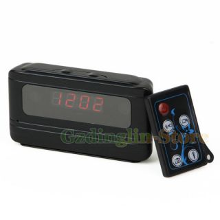 Motion Detection HD 720P Multi Function Clock Camera DVR Video