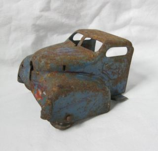 Antique Pressed Steel Truck Cab Metal Wheels Parts Unknown Wyandotte
