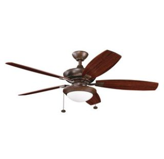 Kichler 300016TZ Tannery Bronze Transitional 52 Five Blade Indoor