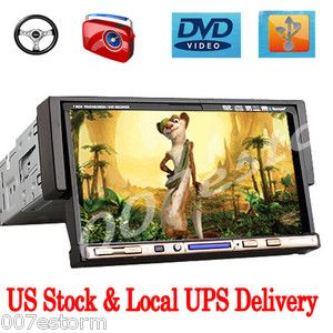 Dash LCD Car Stereo DVD CD Radio Video Player Touch Screen USA