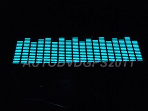 Sound Music Activated Car Stickers Equalizer Glow Blue Light