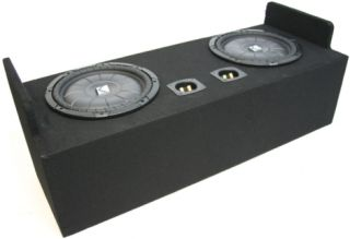 EXT CAB TRUCK 82 09 DUAL 12 LOADED KICKER CVT12 BASS SPEAKER SUB BOX