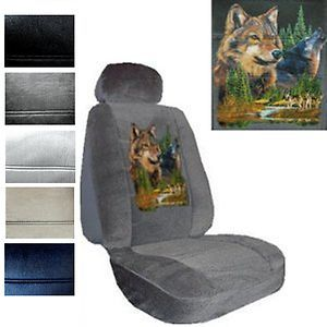 Seat Covers Car Truck SUV Grey Wolves Low Back PP 1