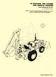 Case 35 Backhoe Loader 580CK B Parts Catalog Manual