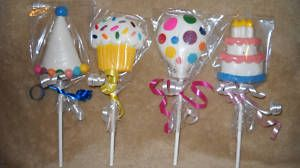 Balloon Cupcake Party Clown Hat Birthday Cake Lollipops Lollipop Favor