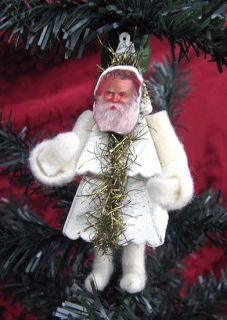Casey Mack Lowe Christmas Tree Santa Figure Ornament
