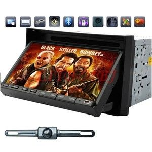 Best 2 DIN 7 Car Stereo DVD CD Radio Player USB SD Aux in SWC BT iPod