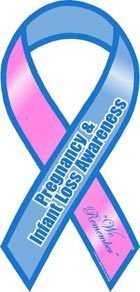 Pregnancy and Infant Loss Awareness Car Ribbon Magnet