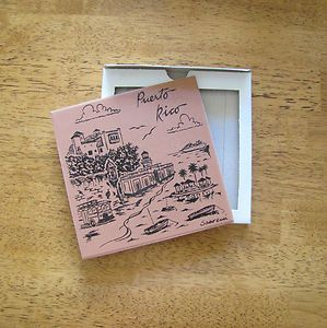 DECORATIVE CERAMIC TILE PUERTO RICO SOUVENIR WALL DÉCOR COASTER