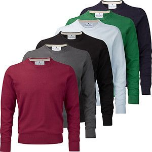 Charles Wilson Mens Cotton Crew Neck Sweater New