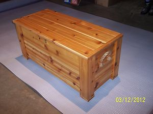 Large Custom Made Cedar Chest Toy Box Horse Tack Box Storage Trunk