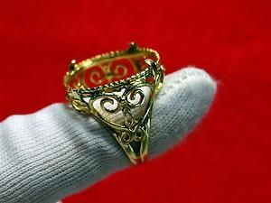 14KT SOLID YELLOW GOLD ORNATE DESIGN RING W O STONE 7 3 GRAMS SIZE