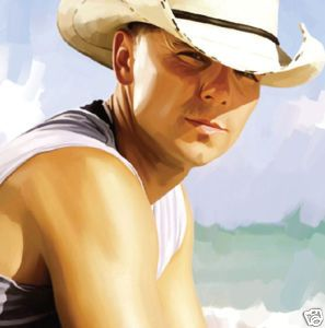 Kenny Chesney Original Signed Canvas Art Painting 30x18
