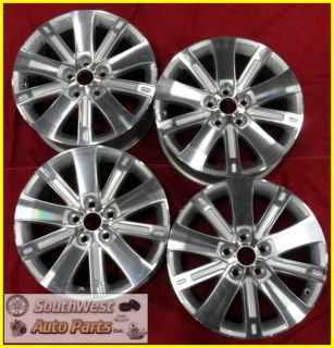 10 11 Chevy Equinox 18 Machined Silver Take Off Wheels Factory Rims