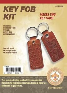 Official BSA Boy Scout America Leather Key Fob Kit
