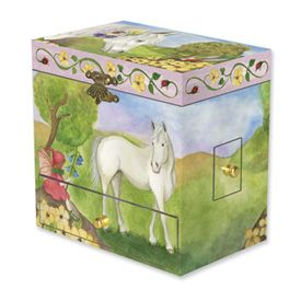 New Childs Horse Fairy Musical Jewelry Box Gift