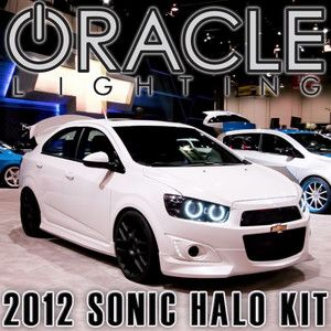 2012 Chevy Sonic Oracle Headlight Halo Kit 6K HID White LED SMD Halos
