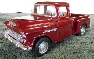 1955 CHEVY STEPSIDE SHORT BED TRUCK S S BRAND NEW 1 24TH SCALE
