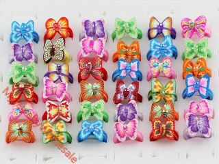 Wholesale Childrens Jewelry Mix Lot 25piece Butterfly Soft Ceramic