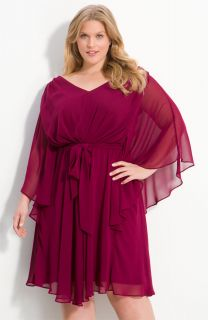 Suzi Chin for Maggy Boutique Batwing Sleeve Chiffon Dress (Plus)