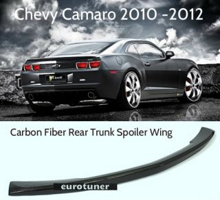 10 12 Chevy Camaro OE Style Carbon Fiber Rear Trunk Spoiler Wing LS SS