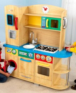 New Kids Pretend Kitchen Wooden Children Play Toy KidKraft Cook