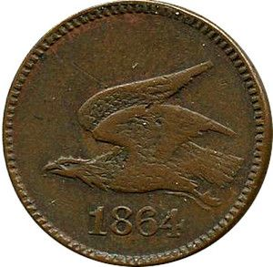 Chillicothe Ohio R8 Civil War Token Keim 1864 Flying Eagle