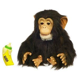 FUR REAL FRIENDS ~CHIMP MONKEY WITH BANANA BOTTLE~ WORKS GREAT