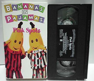 Bananas in Pajamas Pink Spots Children Kids VHS Video Tape RARE
