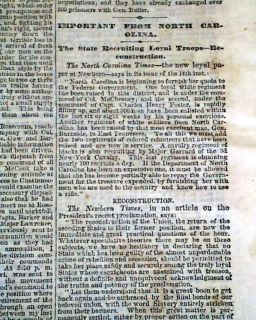 1863 Civil War Newspaper Chickamauga Tennessee Georgia Thomas Official