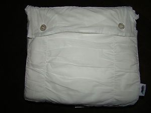 SIMPLY SHABBY CHIC SMOCKED PRESTINE WHITE FULL QUEEN DUVET W 2